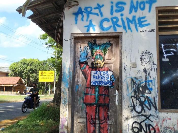 Mural Kritikan Anagard di Yogyakarta