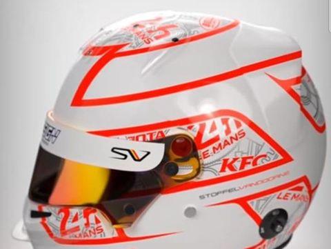 Helm Sean Gelael untuk balapan Le Mans 24 Hours