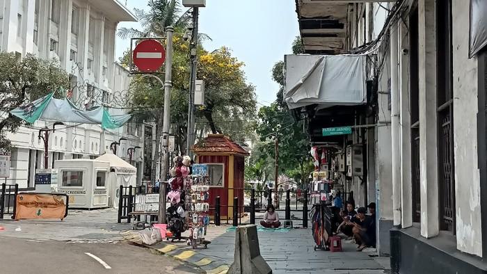 Suasana Kawasan Wisata Kota Tua pada Rabu (18/8/2021) siang