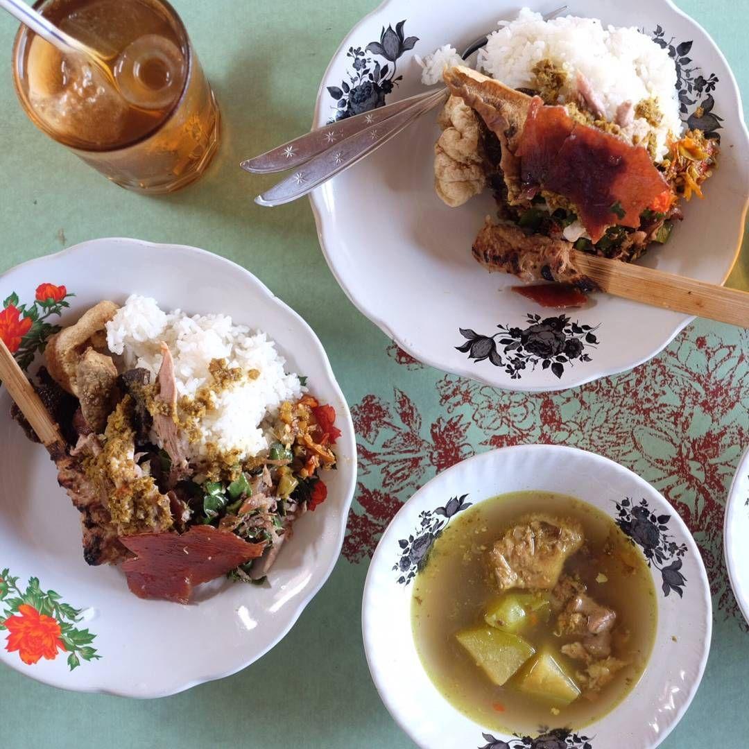 7 Nasi Babi Guling di Bali yang Renyah Gurihnya Nagih