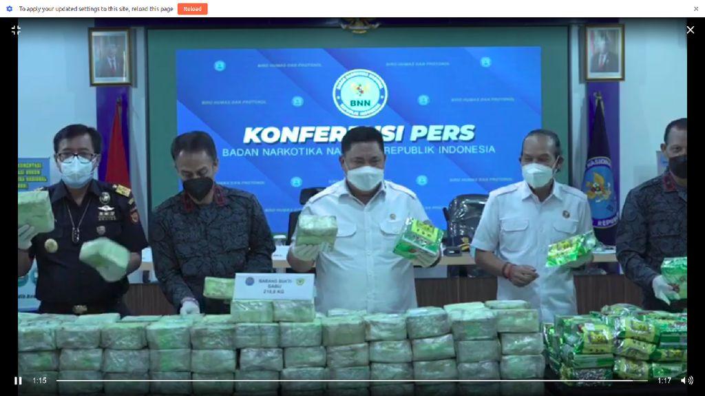 BNN Gagalkan Penyelundupan 324 Kg Sabu Asal Thailand di Aceh