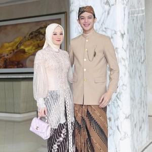 Gaya Hijab Dinda Hauw Jadi Bridesmaid Lesti Kejora, Kecantikannya Curi Atensi