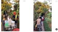 Jago Cari Peluang, Pedagang Gorengan Ini Jualan di Tengah Jalur Tikus yang Macet