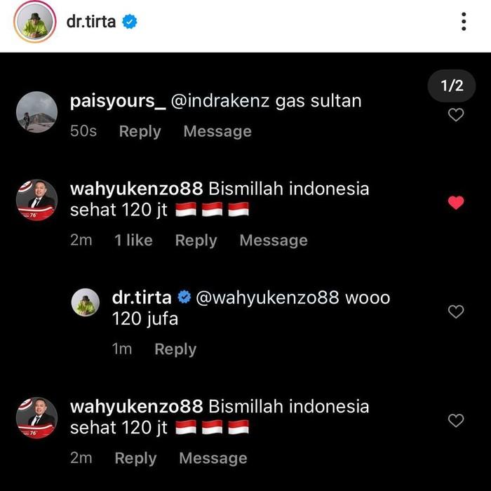 Pengusaha asal Surabaya Dinar Wahyu Saptian kembali memenangkan sebuah lelang. Kali ini, pria yang akrab disapa Wahyu Kenzo ini memenangkan lelang motor  Kawasaki KSR 110 milik dr Tirta.