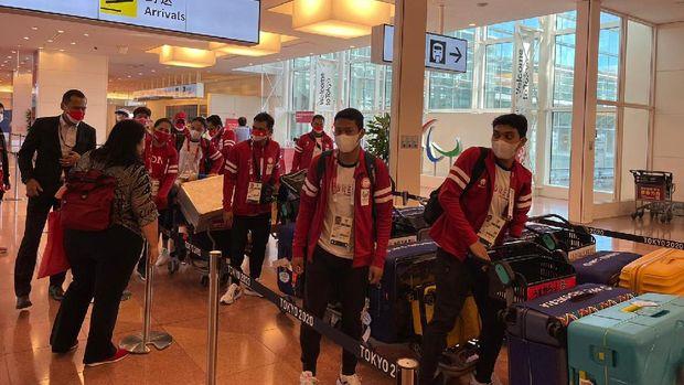 Tim parabadminton Indonesia tiba di Jepang.