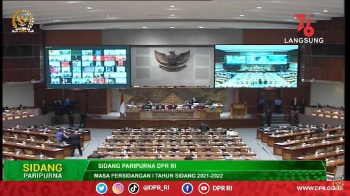 Rapat paripurna Kamis (19/8/2021) membahas RUU APBN 2022