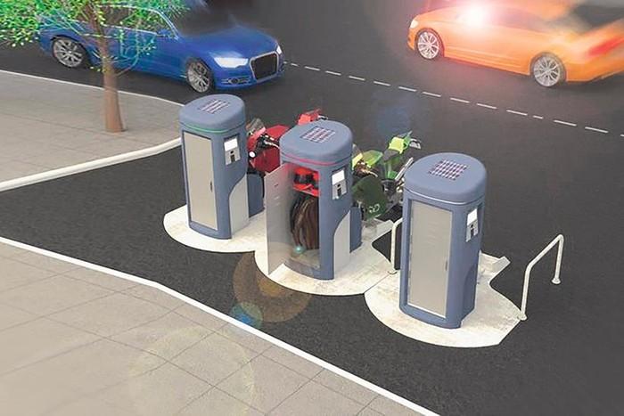 Tempat parkir motor di masa depan