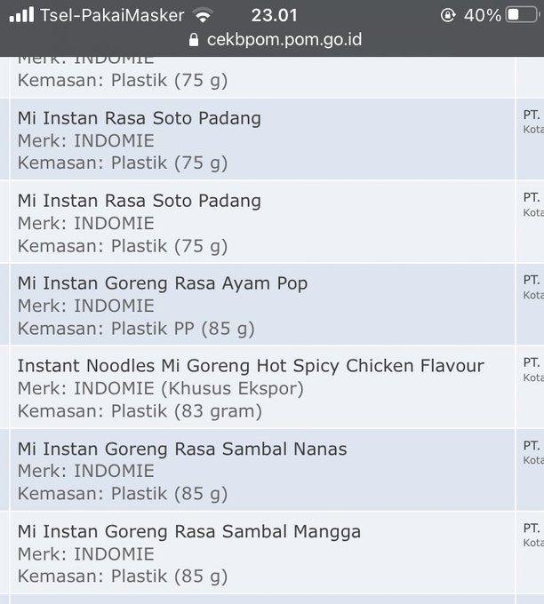 Iseng cek website BPOM, netizen ini malah temukan varian baru Indomie yang belum dirilis