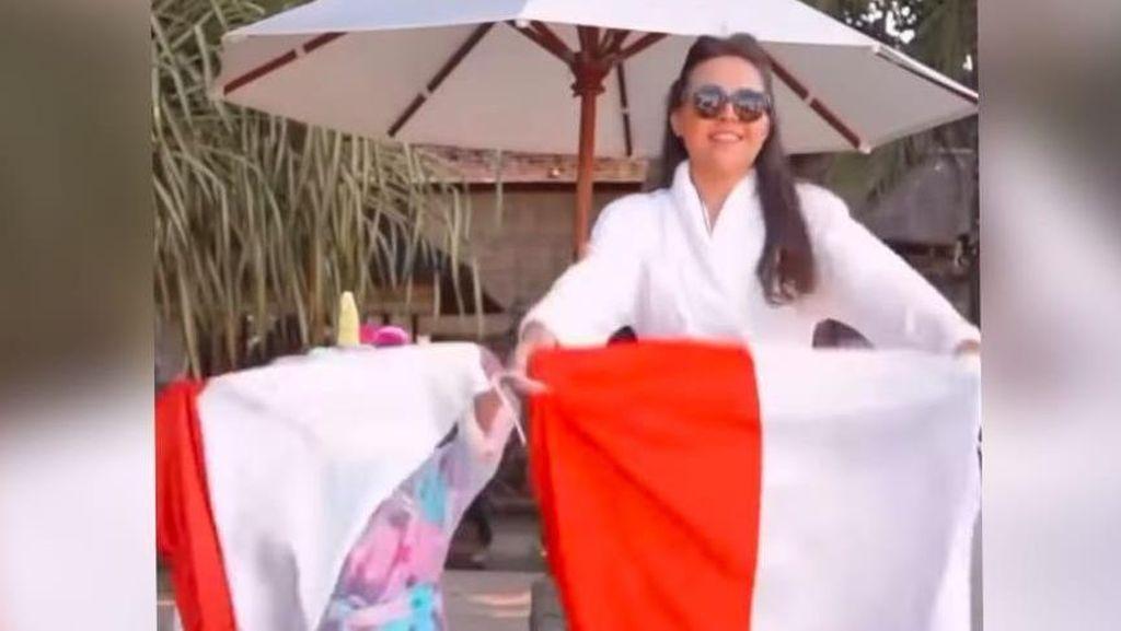 Potret Olivia Jensen yang Dikecam karena Jatuhkan Bendera Merah Putih