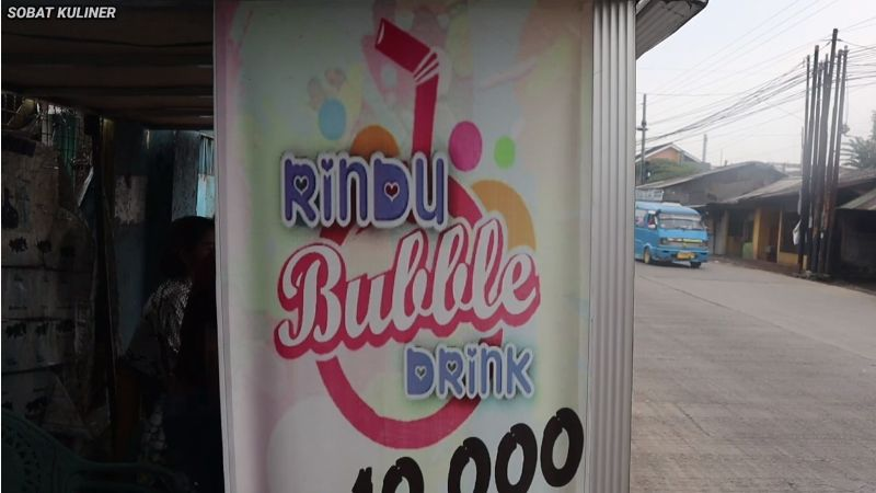 Penjual Boba Cantik di Bogor