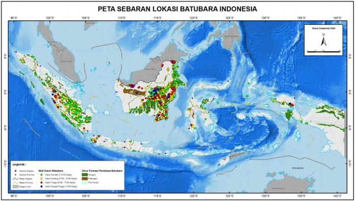 Peta Persebaran Batubara Indonesia
