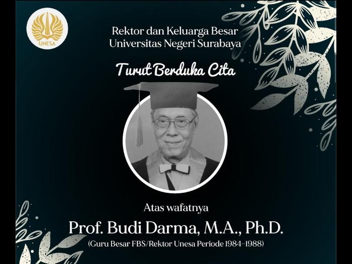 Kabar duka menyelimuti dunia sastra Indonesia. Sastrawan Prof Dr Budi Darma meninggal dunia pagi tadi.