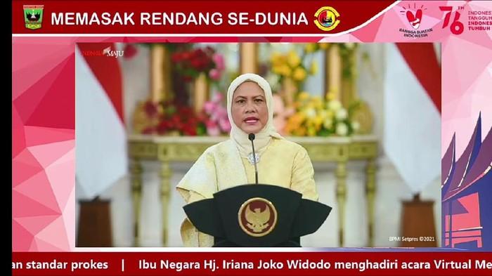 Rendang Diupayakan Tercatat UNESCO, Iriana Jokowi: Rendang Layak Diakui Dunia!