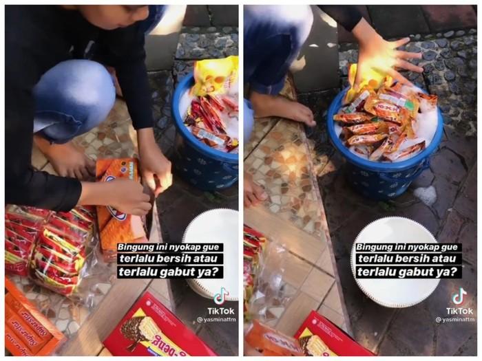 Takut Corona, Ibu Netizen Ini Rendam Camilan di Air Sabun!