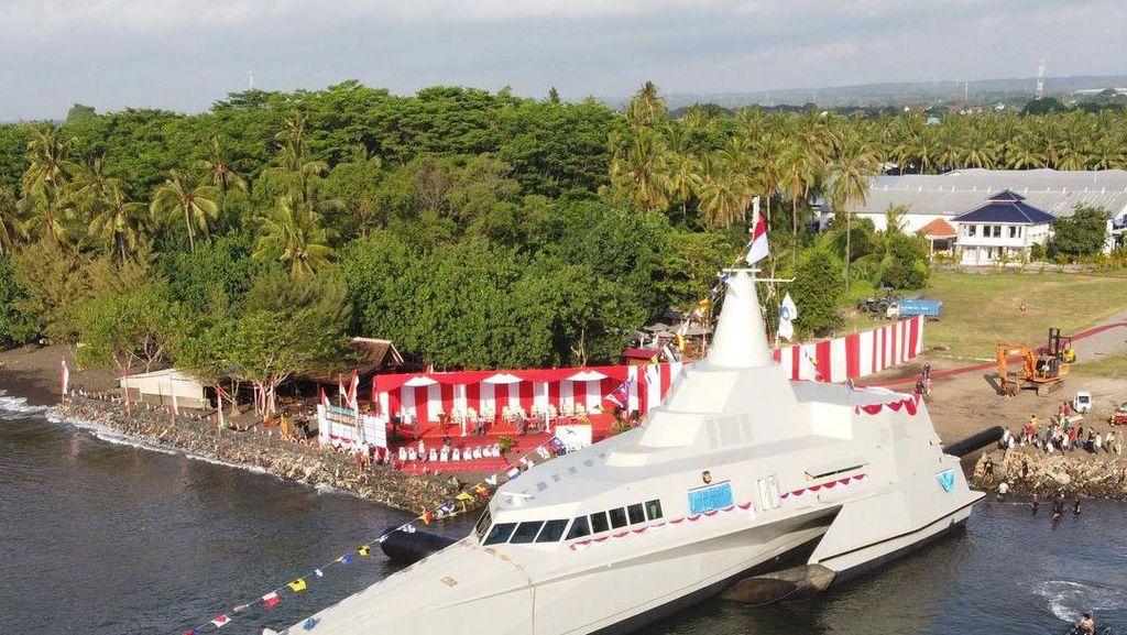 Gahar! Ini KRI Golok, Kapal Perang Anyar TNI dengan Kemampuan Siluman