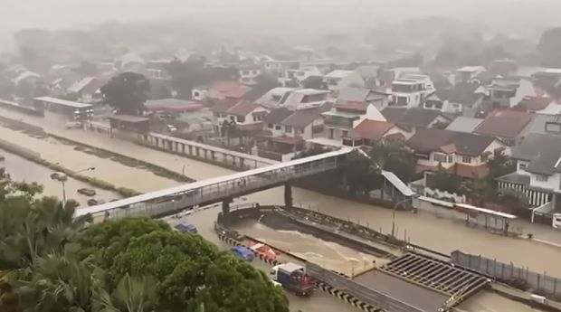 Banjir Singapura ( Ist Tangkapan Layar Youtube)