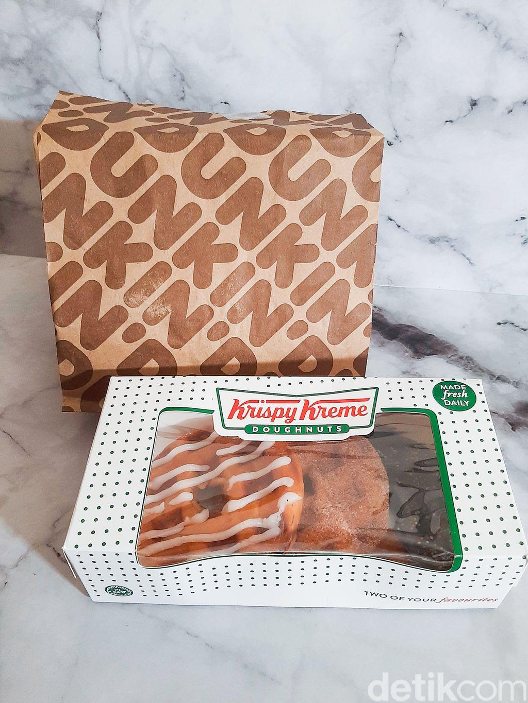 Doffle dari Dua Gerai Donat, Dunkin' Donuts Vs Krispy Kreme