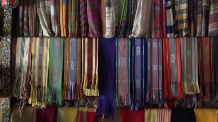 Kain tenun Pringgasela (Foto: Tangkapan layar video di Rumah Digital Indonesia)