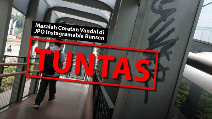 Masalah Coretan Vandal di JPO Instagramable Bunsen TUNTAS