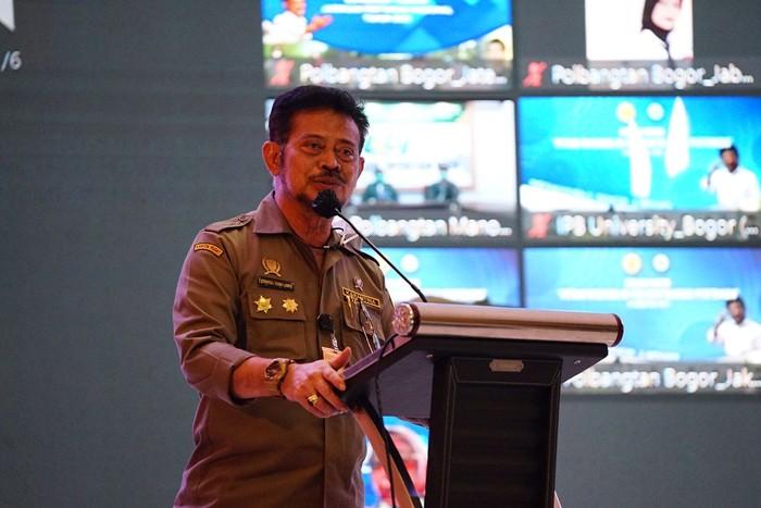 Menteri Pertanian Syahrul Yasin Limpo menghadiri kuliah umum di Kampus Politeknik Pembangunan Pertanian (Polbangtan) Bogor.