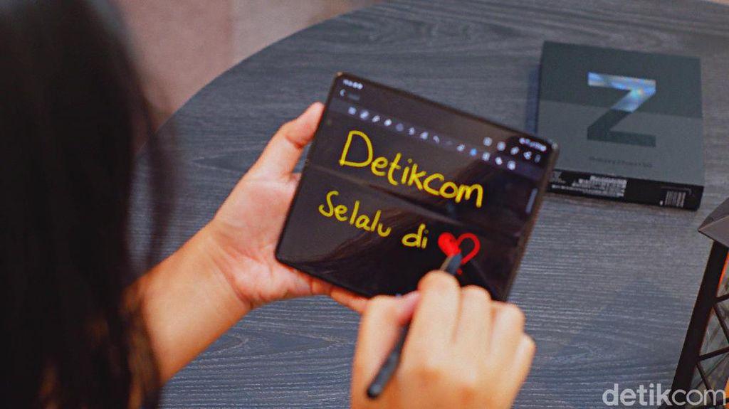 Tips Coret-coret Kreatif Pakai Samsung Galaxy Z Fold 3 5G