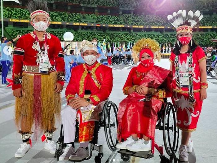 Gaya Atlet Paralimpiade Indonesia di Tokyo