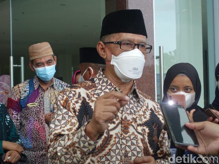 Ketum PP Muhammadiyah Haedar Nashir, Sleman, Rabu (25/8/2021).