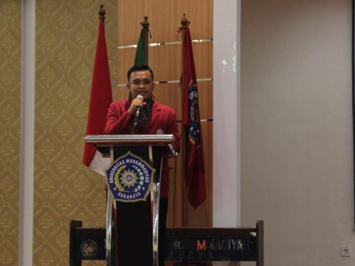 Koordinator Presidium Nasional BEM Perguruan Tinggi Muhammadiyah (Koorpresnas BEM PTMI) Nur Eko Suhardana