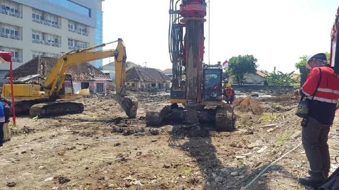 Lokasi pembangunan rumah tahanan (rutan) di Semarang senilai Rp 25 miliar, Rabu (25/8/2021).