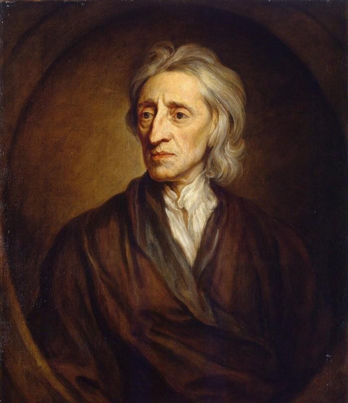 Lukisan potret John Locke oleh Godfrey Kneller. John Locke adalah pengusul teori pembagian kekuasaan.