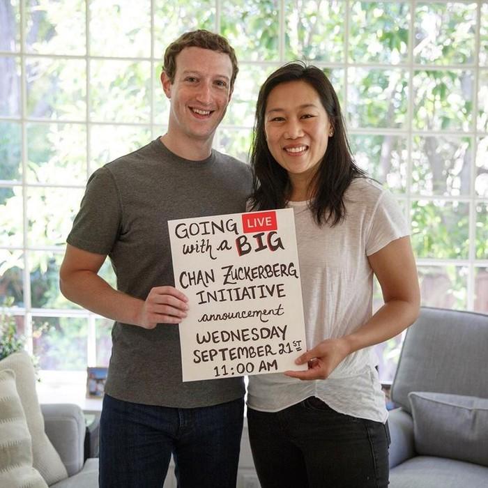 Mark Zuckerberg dan istrinya, Priscilla
