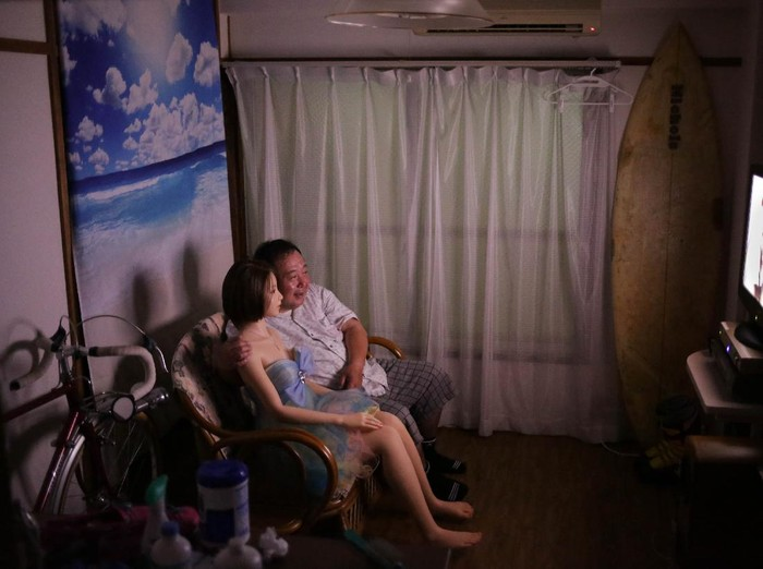 GUNMA, JAPAN - JUNE 25: Senji Nakajima looks for clothes for his Love Doll Saori on June 25, 2016 in Gunma, Japan. Senji Nakajima, 61 years old, lives with his life-size love doll named Saori in his apartment in Tokyo, Japan. Nakajima, married with two children, who lives away from home for work, first started his life with Saori six years ago. At first, he used to imagine as if the doll was his first girl friend, and used it only for sexual purposes to fill the loneliness, but months later, he started to find Saori actually has an original personality. She never betrays, not after only money. Im tired of modern rational humans. They are heartless, Nakajima says, for me, she is more than a doll. Not just a silicon rubber. She needs much help, but still is my perfect partner who shares precious moments with me and enriches my life.  (Photo by Taro Karibe/Getty Images)