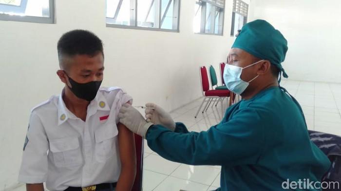 Vaksinasi pelajar di Kabupaten Bantul