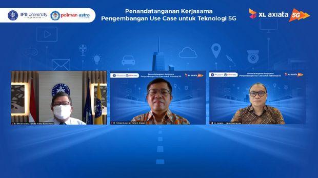 XL Axiata menjalin kemitraan dengan Institut Pertanian Bogor (IPB) dan Politeknik Manufaktur Astra (Polman Astra) dalam mengembangkan Internet of Things (IoT) di jaringan 5G.