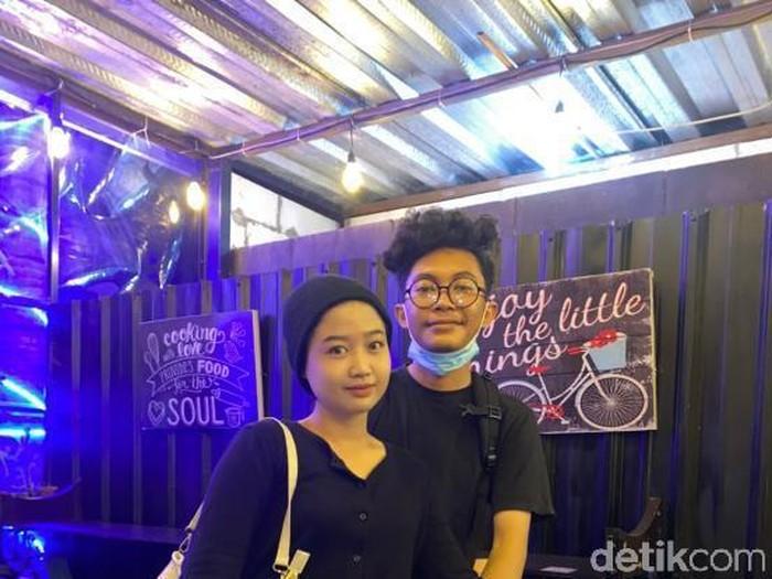 Foto Iril dan Jeje yang viral di TikTok.