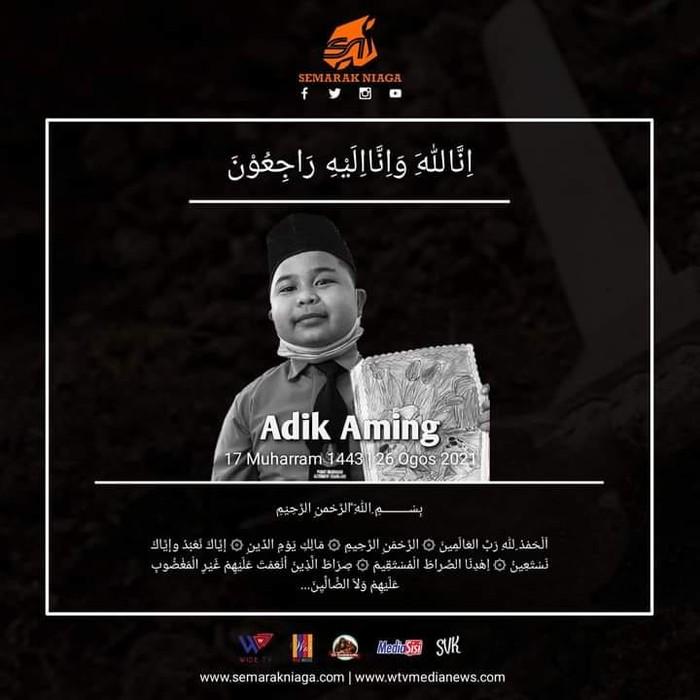 Bocah Muhammad Aming meninggal dunia