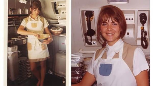 Pramugari Pan Am, Anne Sweeney, terbang dari tahun 1964-1975, kemudian pindah ke PR, mewakili Pan Am Museum Foundation.