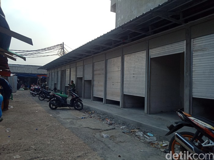 Perbaikan Pasar Kambing (Pasar Lontar) Tanah Abang yang habis terbakar April lalu, 27 Agustus 2021. (Nahda Rizki Utami/detikcom)