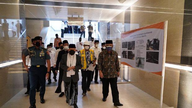 Wapres Ma'ruf Amin Tinjau Terowongan Silaturahmi