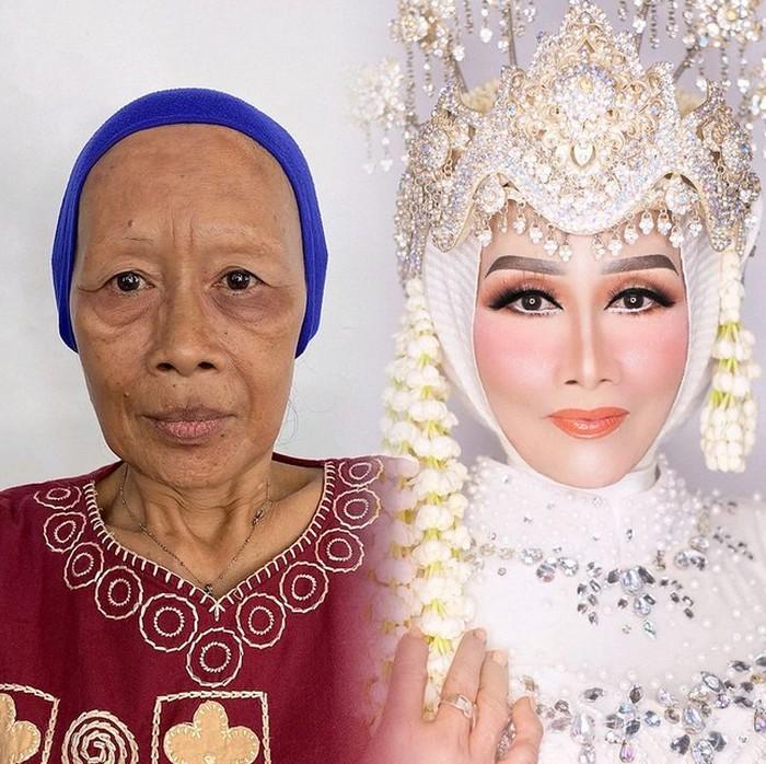 Makeup nenek jadi muda pakai lakban