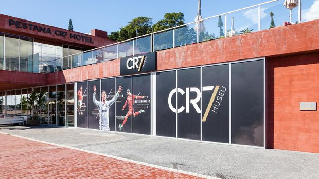 Funchal, Madeira, Portugal - November 3, 2016:  The Christiano Ronaldo Pestana CR hotel and museum is pictured on the Funchal waterfront on the Portuguese island of Madeira.