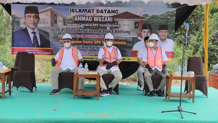 Ahmad Muzani di acara DPD Gerindra Babel