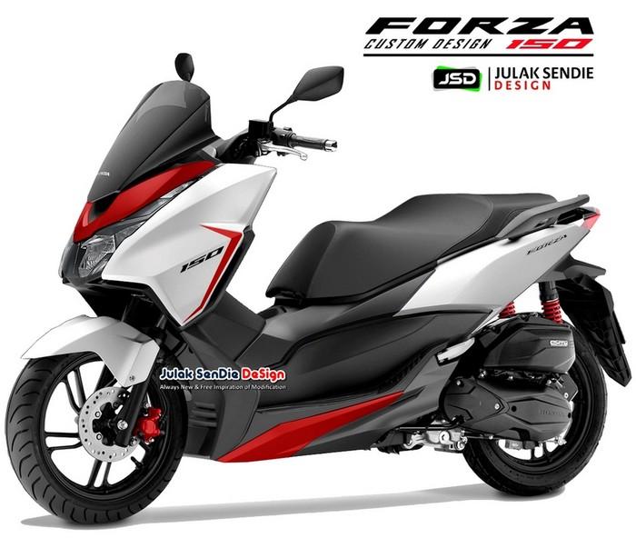Desain Olah Digital Honda Forza 150 Pesaing Nmax