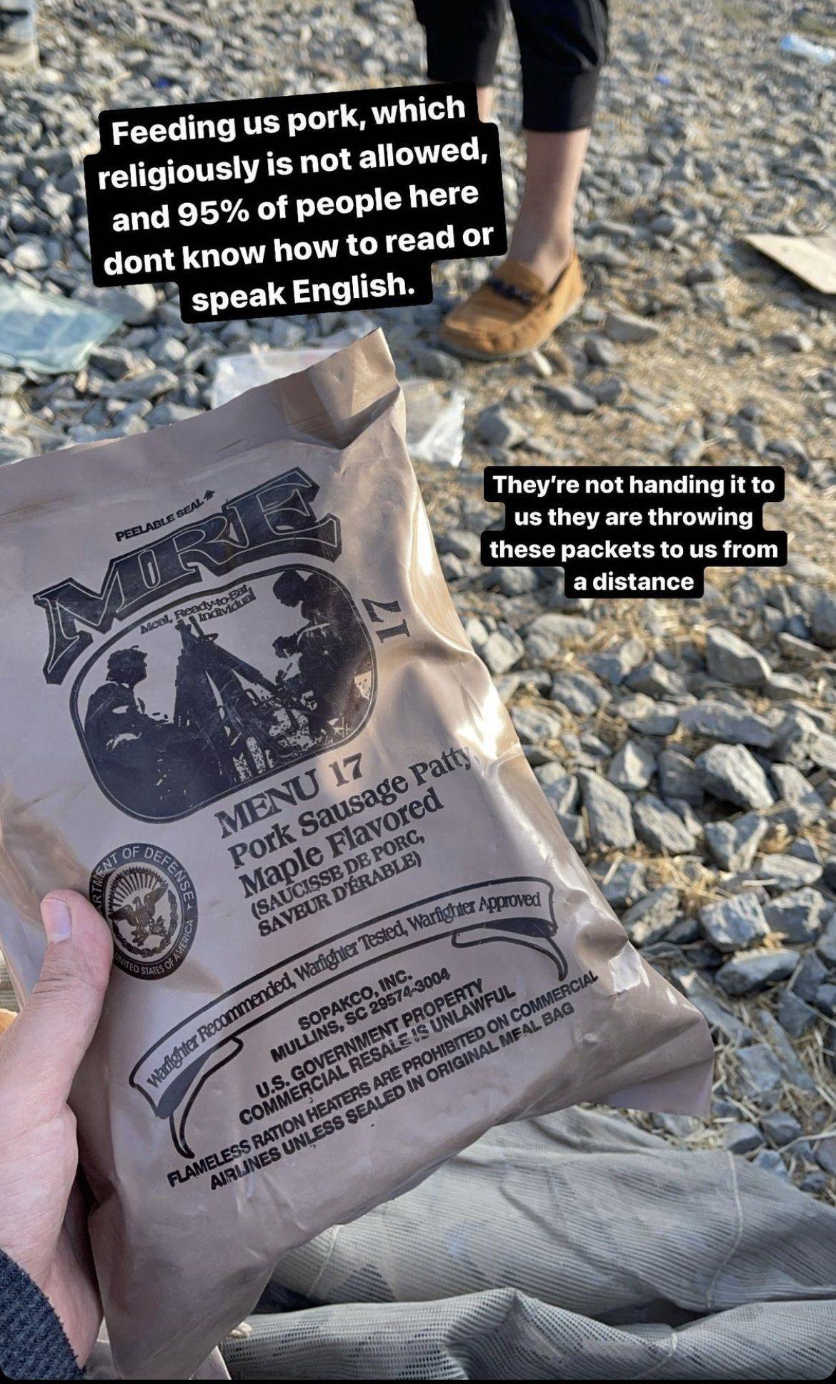 Warga Afghanistan Terlantar Diberi Makanan Mengandung Babi oleh Pasukan AS