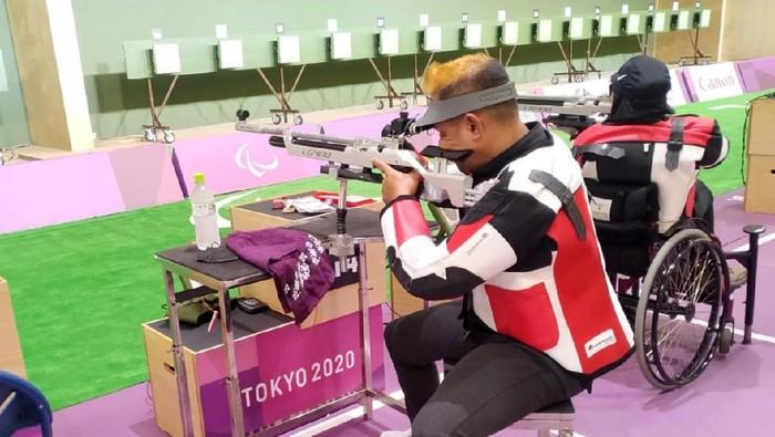 Bolo Triyanto, atlet para shooting Indonesia, mengambil hikmah dari kegagalan di mixed 10 meter air rifle standing SH2 Paralimpiade Tokyo 2020.