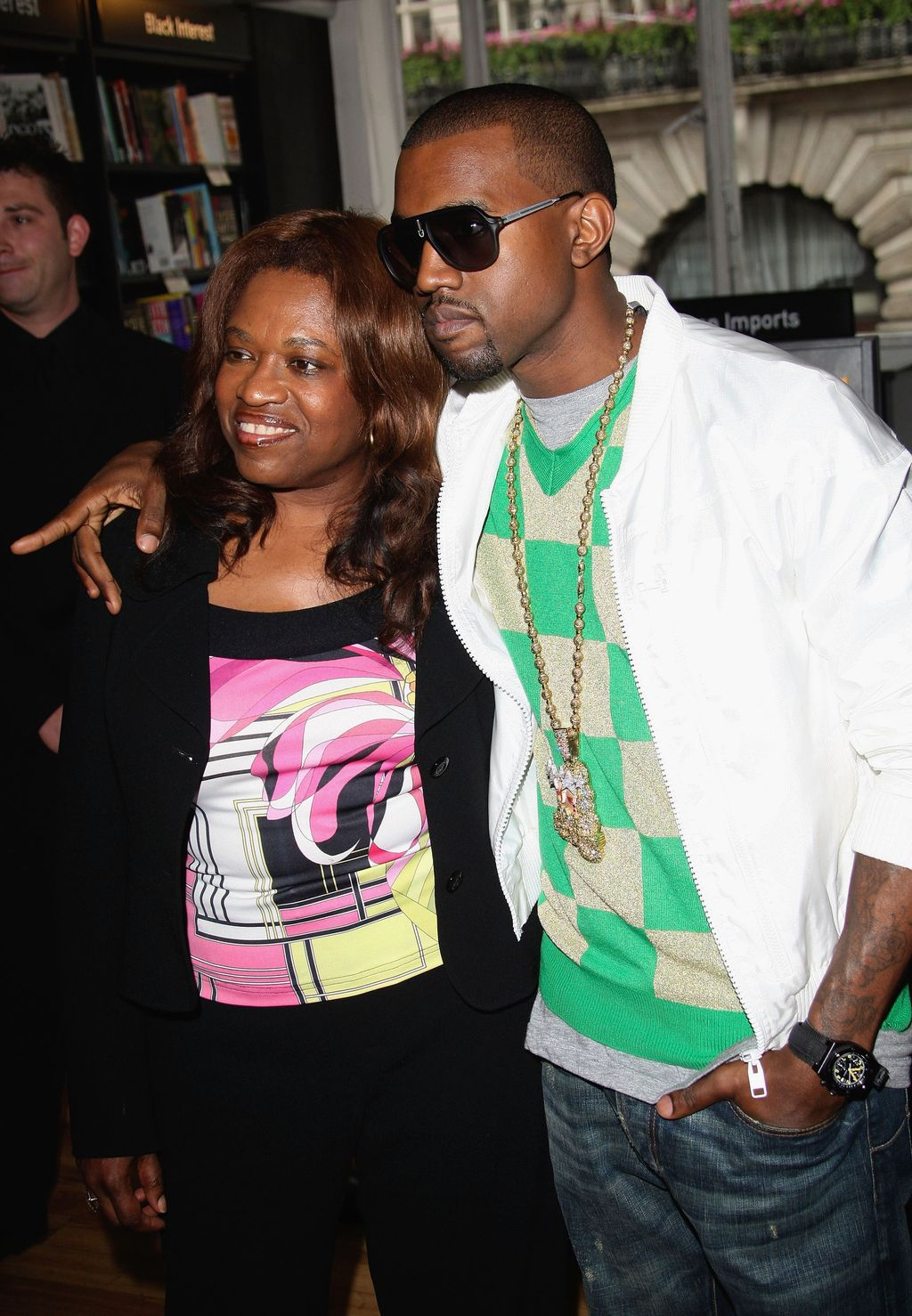 LONDON - JUNE 30:  US hip-hop star Kanye West poses with his mother Donda prior to signing copies of 'Raising Kanye: Life Lessons From The Mother Of A Hip-Hop Superstar' at Waterstones on June 30, 2007 in London.   (Photo by MJ Kim/Getty Images)