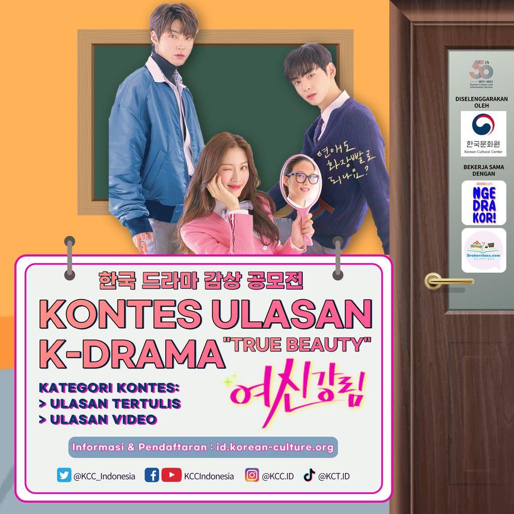 Kontes Ulasan K-Drama True Beauty kolaborasi KCCI dengan Podcast ngedrakor!