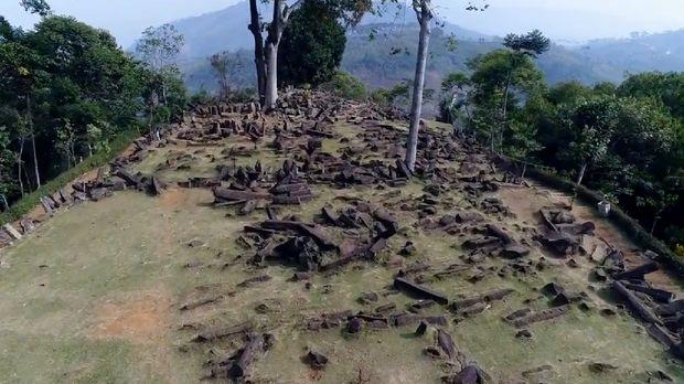 Situs Gunung Padang (Foto: Tangkapan layar video di Rumah Digital Indonesia)
