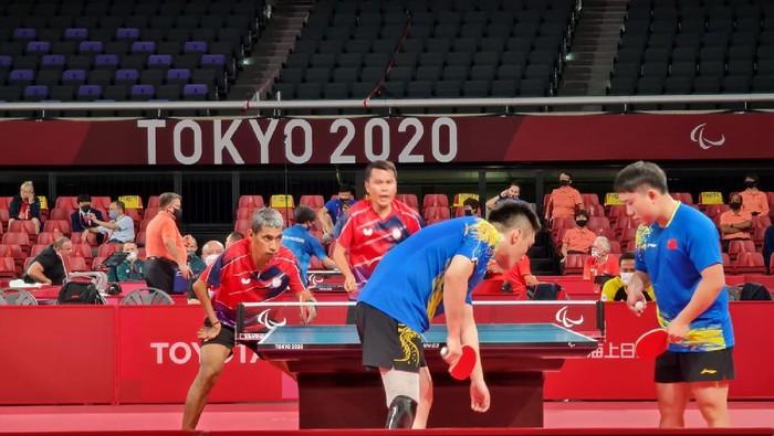 David Jacobs dan Komet Akbar terhenti di 16 besar para tenis meja Paralimpiade Tokyo 2020.