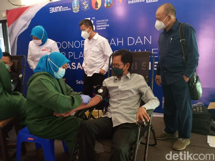 PT Surabaya Industrial Estate Rungkut (SIER) kembali menggelar donor darah dan donor plasma konvalesen di kompleks Wisma SIER. Donor plasma konvalesen pernah digelar pada Februari lalu.